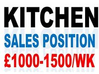 KITCHEN SALESPERSON REQUIRED IN THE EDINBURGH AREA TO COVER COMPANY SUPPLIED LEADS