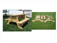 HOMEMADE PLYWOOD PICNIC TABLE