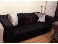 IKEA - Black Sofa for £60