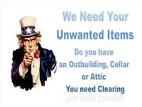 House Clearance service available lowest rates or some cases free House Garage Shed