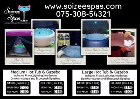 The Finest Hot Tub Hire In Northern Ireland, Prices from £95. Book Now!!