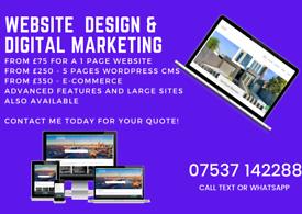 Professional Website Design | From £75 | SEO | Digital Marketing | Logos