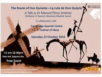 Talk: The Route of Don Quijote - La Ruta de Don Quijote