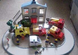 Fireman Sam Vehicles and House.