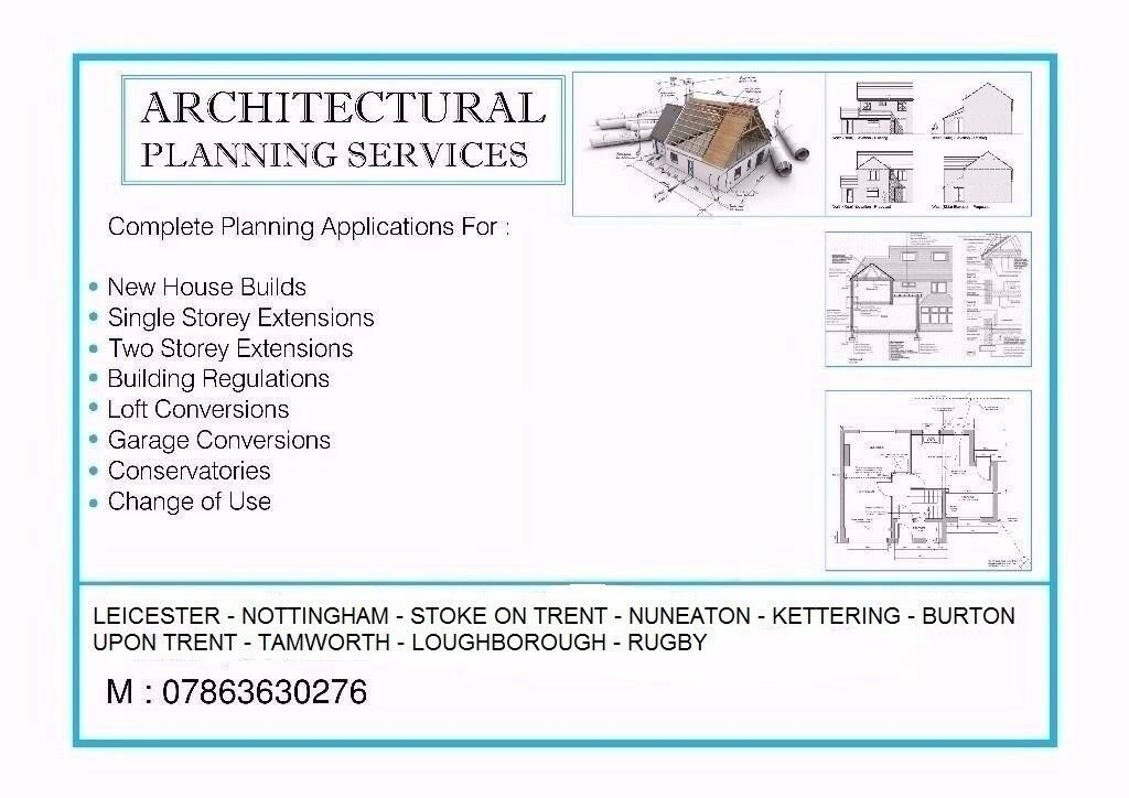Architectural Design Services, Planning Applications, Building Regulations. Contact 07863630276