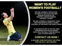 LADIES FOOTBALL TEAM - NEW PLAYERS/DEFENDERS REQUIRED