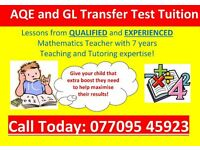 AQE TUTOR/GL TRANSFER TEST TUITION from Qualified Maths Teacher