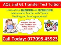 AQE TUTOR/GL TRANSFER TEST TUITION and GCSE MATHS TEACHER