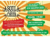 Free taster at Soul of the City Choir this Wednedsay