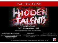 Call for Artists Hidden Talents Fine Art Exhibition