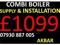 COMBI BOILER INSTALLATION, megaflo, back boiler & cylinders removed, GAS SAFE HEATING,VAILLANT