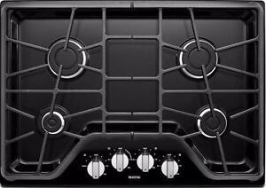 Plaque de cuisson au gaz 30'', 4 Brûleurs, Maytag, NEUF