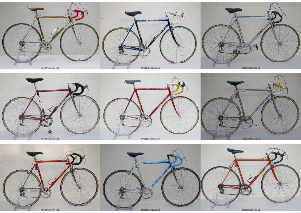 Vintage Steel Road Bike Italian Classic Moser Masi Conti Colnago ...
