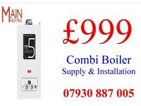 COMBI BOILER SUPPLY & INSTALLATION, back boiler & tanks removed, MEGAFLO Gas SAFE HEATING