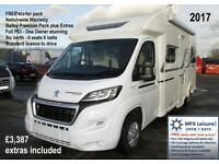 2017 BAILEY APPROACH ADVANCE 665 with PREMIUM PACK & EXTRAS cost £3,387 included - 6 BERTH - 6 SEATS