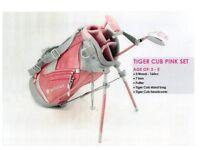 Tiger Cub junior kids golf set for 3-5 girls the PINK set