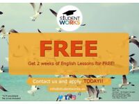 Free English Lessons - 15hours x week