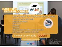 Part time English courses!