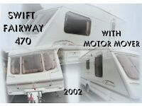 2 BERTH L SHAPE LOUNGE SWIFT FAIRWAY 470 WITH MOTOR MOVER