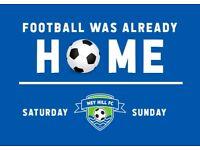 Football players wanted: Saturday & Sunday