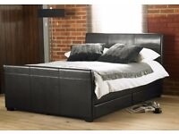 Stunning Faux Leather Storage Bed With 4 Drawers 4FT6 or 5FT (free delivery)