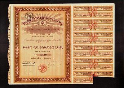 PATHE CONSORTIUM CINEMA PARIS FRANCE dd 1921  - Movie Film