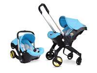 Blue doona car seat/stroller