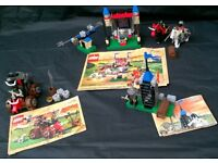 Selection of LEGO Sets Castle Knights with instructions 6032 6095 4817 from £7 each