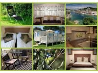 Dog Friendly Caravan at Looe Bay Holiday Park in Cornwall. Only remaining week for 2017