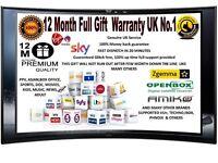 12 Months Gift sky virgins skybox openbox zgemma amiko VU UK No1