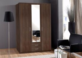 ⚫⚫SAME DAY DELIVERY⚫⚫German Made Osaka 3 Door Wardrobe - ⚫⚫WE DO ALL SORT OF FURNITURE⚫⚫