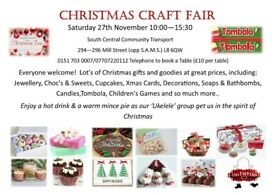 Christmas Craft Fair at South Central Community Transport