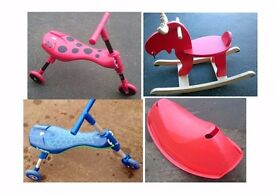 Wooden Reindeer Rocker, Scuttlebugs & Other