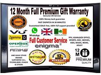 FULL 12MONTH WARRANTY GIFT OPENBOX/SKYBOX,ZGEMMA,VU+IBOX,TECHNO, TRIED THE REST NOW TRY THE BEST