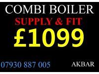 boiler installation, MEGAFLO, fULL GAS SAFE heating, back boiler & cylinders removed, VAILLANT,