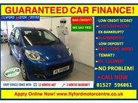 2013 PEUGEOT 107 ACTIVE BLUE - GUARANTEED CAR FINANCE CAR CREDIT - FINANCE FROM £23 P/WEEK