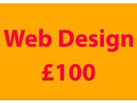 Web Design for £100 within 1 week (unlimited pages)