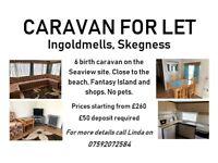 6 Birth Caravan to let in INGOLDMELLS, SKEGNESS