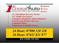24 Hour Breakdown Recovery & Roadside Rescue