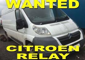 Citroen Relay Van Wanted!!!