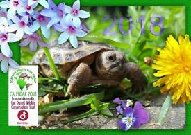 CHARITY : A3 Tortoise Protection Group Calendar 2018 - Profits to Durrell Trust