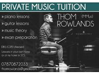 Piano / guitar lessons in South London. All ages and abilities welcome!