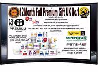 12 Months Full Gift skys V8s F3 F5 Skybox Openbox Ibox Zgemma amiko vu technomate UK No1