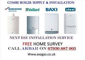 BOILER INSTALLATION-POWERFLUSH-megaflo-back boiler removed-NEW RADIATORS-gas certificate-VAILLANT