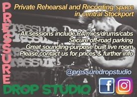 Private Band Rehearsal/Recording studio in Stockport [PRESSURE DROP STUDIO]