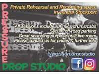 Private Band Rehearsal/Recording studio in Stockport [PRESSURE DROP STUDIO]