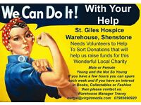 St. Giles Hospice Charity Warehouse Volunteers Required