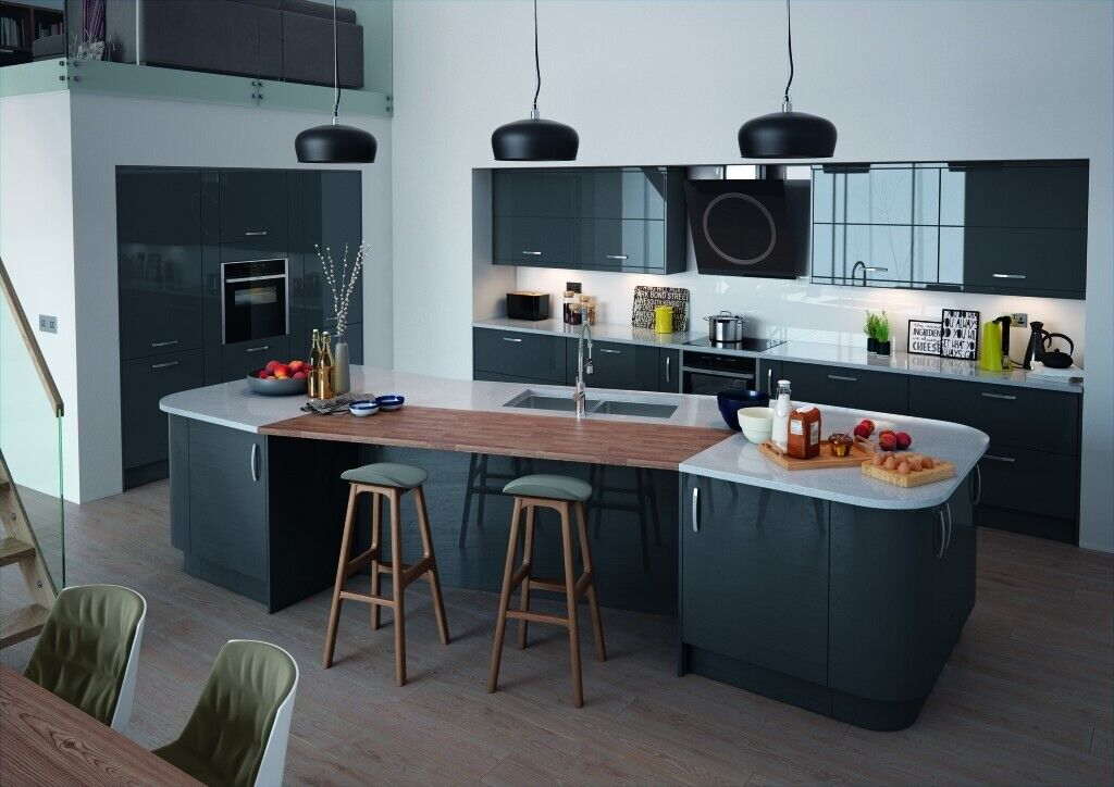 Vivo Anthracite Gloss Complete Kitchen Cabinets Package Offer New By Krypton Kitchens Bedrooms In Ladywood West Midlands Gumtree