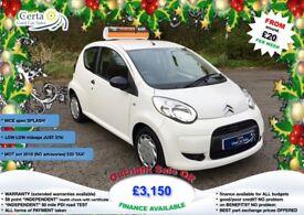 £20 wk LOW mileage!! citroen C1 SPLASH 1.0 petrol manual 2010 (60) £20 TAX!