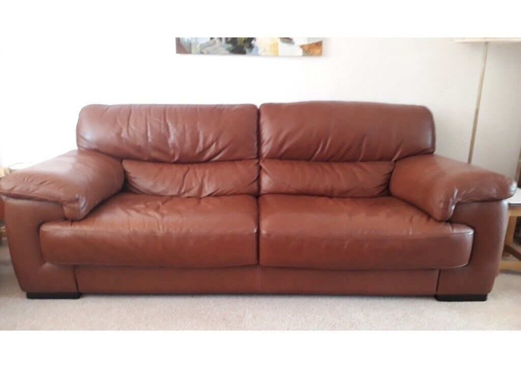 Fabulous Dansk Design 3 Seater Leather Sofa In Rochford Essex Gumtree Onthecornerstone Fun Painted Chair Ideas Images Onthecornerstoneorg